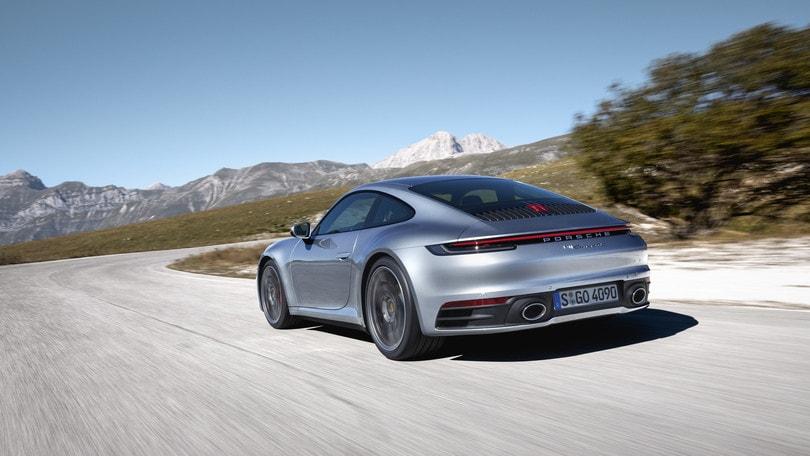 Porsche 911 '992', il test