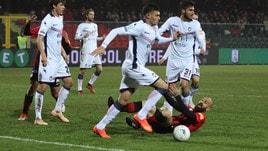 Serie B Foggia-Crotone 0-2, decidono Rohden e Zanellato