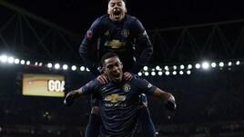 FA Cup: il Manchester United batte l'Arsenal e passa agli ottavi. Otto su otto per Solskjaer