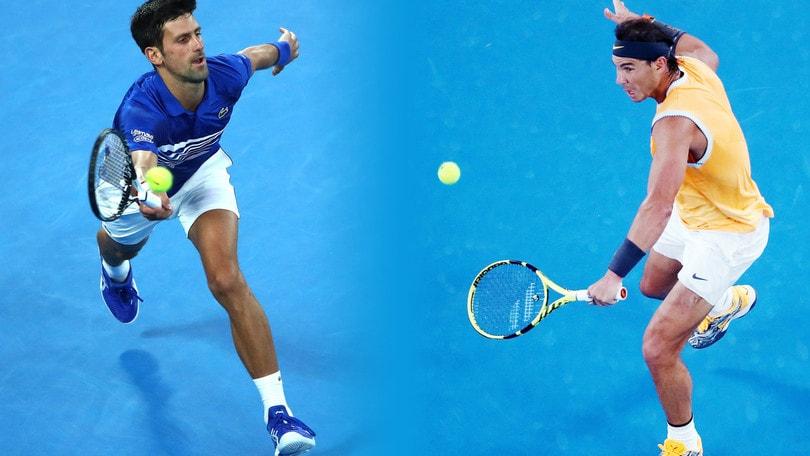 Tennis, Australian Open: Nadal sfida Djokovic, finale da record