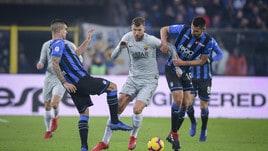 Serie A Atalanta-Roma 3-3, il tabellino