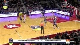 Grissin Bon Reggio Emilia-Germani Basket Brescia 79-82