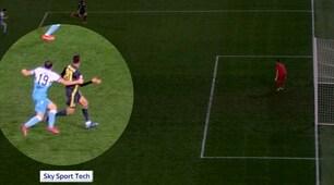 Lazio-Juve, contatto Lulic-Cancelo: Guida assegna il rigore