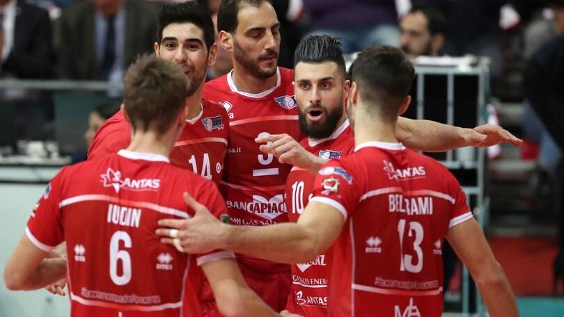 Volley: A2 Maschile, Girone Blu, Piacenza sola al comando