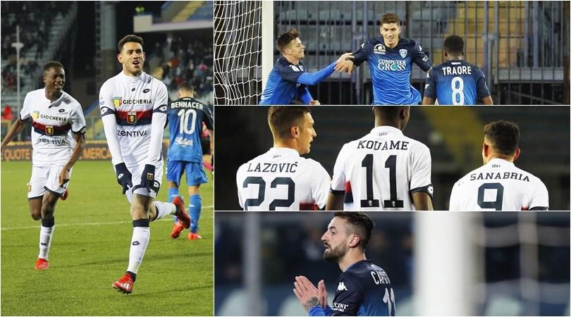 Empoli-Genoa 1-3: Sanabria firma la vittoria