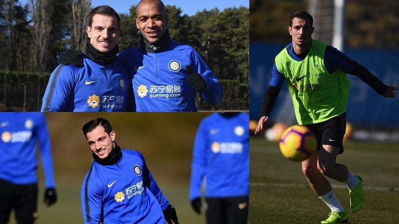 Inter, Cedric Soares si allena ad Appiano: sorrisi e concentrazione verso la Lazio