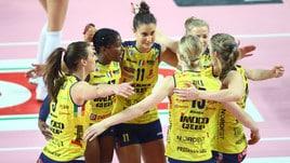 Volley: A1 Femminile, Conegliano sbanca Bergamo e torna in testa