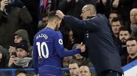 Sarri: «Hazard? Ha 28 anni, se vuole andare via...»