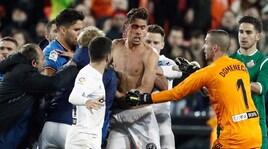 Coppa del Re: incredibile rissa nel finale di Valencia-Getafe