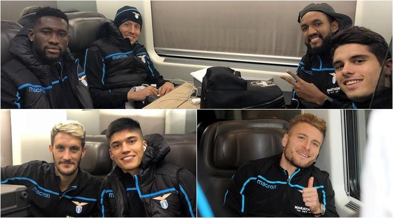 Lazio, con il sorriso in viaggio verso l'Inter