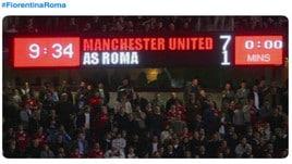 Roma travolta dalla Fiorentina, sui social: «Firenze come Manchester»