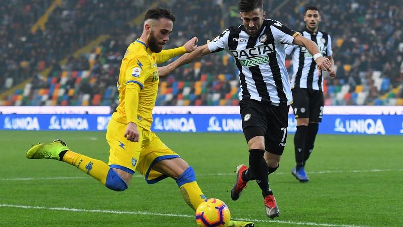 Serie A Frosinone, differenziato per Bardi e Zampano