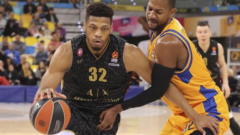 Basket, Eurolega: Milano sbanca las Palmas, che debutto di Nunnally