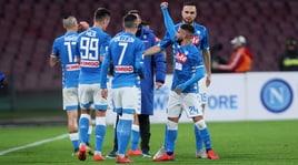 Napoli-Sampdoria 3-0: Milik, Insigne e Verdi. Hamsik, è addio?