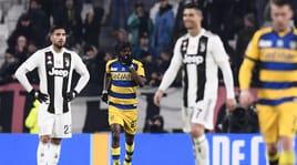 La Juve frena: rimonta Parma a Torino