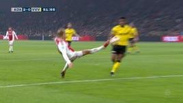 Ajax, Dolberg sfida le leggi della fisica