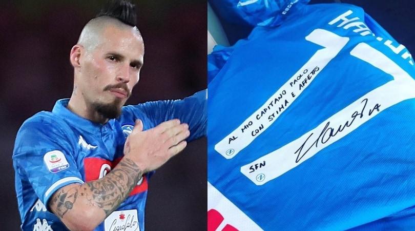 Hamsik regala l'ultima maglia del Napoli a Paolo Cannavaro