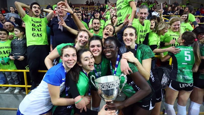 Volley: A2 Femminile, la Coppa Italia la alza Sassuolo