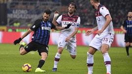 Serie A Inter-Bologna 0-1, il tabellino