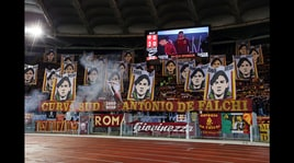 Roma-Milan dalla Sud: coreografia per Antonio De Falchi, poi la protesta