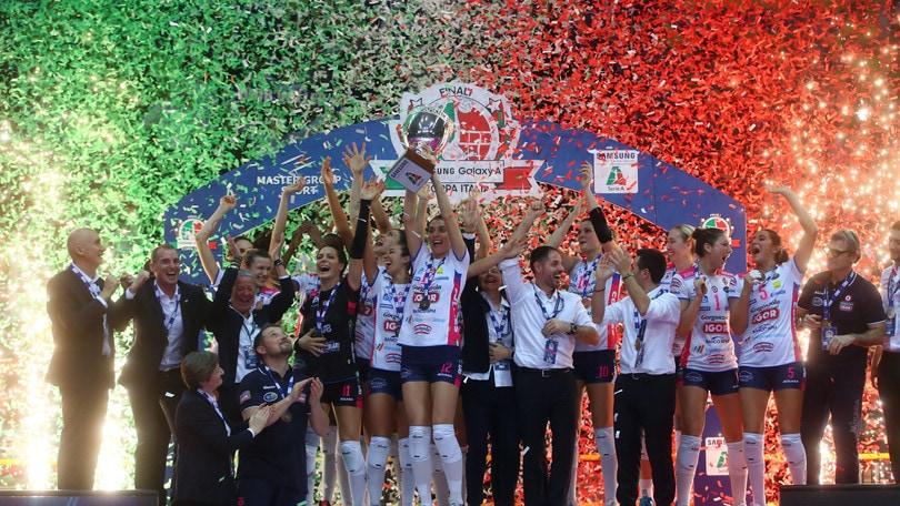 Volley: Coppa Italia A1 Femminile, è festa Novara per il secondo anno di fila