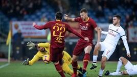Serie A Roma-Milan 1-1, il tabellino