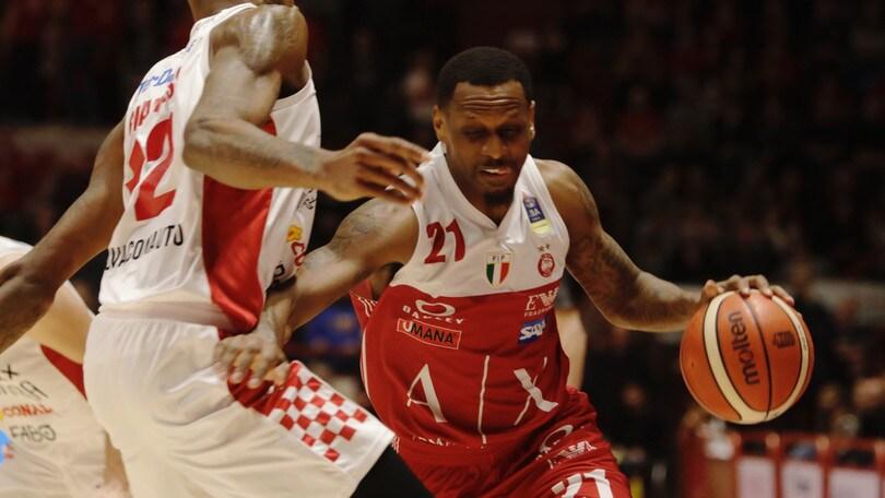 Basket, Olimpia Milano: ko a tavolino contro Pistoia