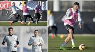 La Juventus festeggia Ronaldo in campo. C'è Berna, out Douglas