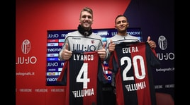 Il Bologna presenta Lyanco ed Edera