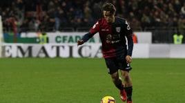 Serie A Cagliari, ecco Pellegrini: «Non mi sento di passaggio». Leverbe: «Contento di essere qui»
