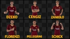 Roma, ecco le GIF ufficiali dei giocatori giallorossi