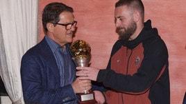 Capello consegna a De Rossi il Premio Bulgarelli
