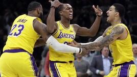 NBA, i Lakers battono i Boston Celtics sulla sirena! Torna in campo Danilo Gallinari
