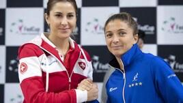 Tennis, Fed Cup: Svizzera-Italia, Sara Errani subito in campo contro la Bencic