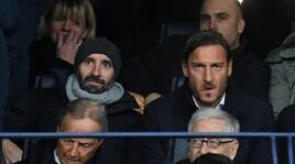 Chievo-Roma, Totti e Monchi in tribuna al Bentegodi