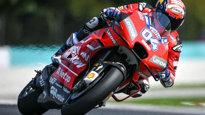 MotoGp Ducati, Dovizioso: «Soddisfatto dei test»