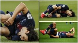 Psg, Cavani segna e si fa male: niente Champions