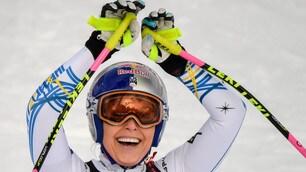 Emozione Vonn, medaglia di bronzo nell'ultima gara della carriera