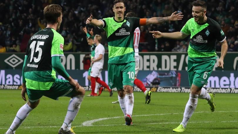 Bundesliga: poker Werder Brema, Stoccarda ko a Dusseldorf