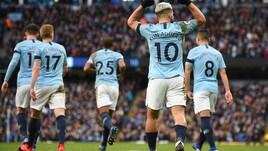 Premier League, Manchester City, sei schiaffi al Chelsea. E Sarri non dà la mano a Guardiola