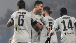 Sassuolo-Juventus 0-3: Ronaldo super, Napoli a -11