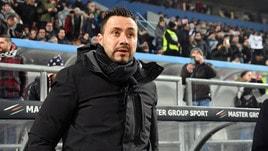 Serie A Sassuolo, De Zerbi: «E' prevalsa la qualità della Juventus»