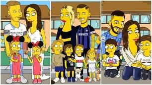 I fenomeni del pallone diventano i Simpson