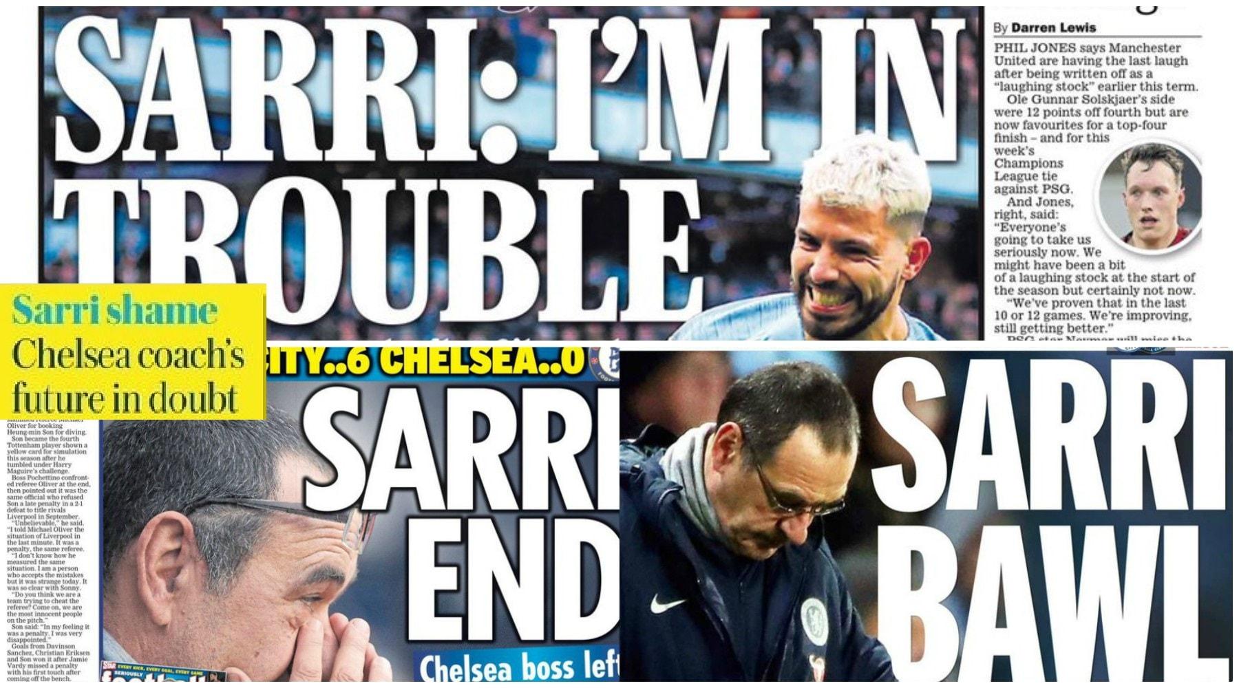 Sarri, la stampa inglese infierisce: «Vergogna»