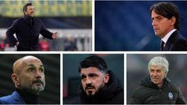 Corsa alla Champions League: calendario e statistiche di Inter, Roma, Milan, Lazio e Atalanta