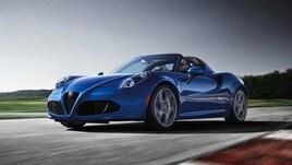 Alfa Romeo 4C Spider Italia, manifesto tricolore