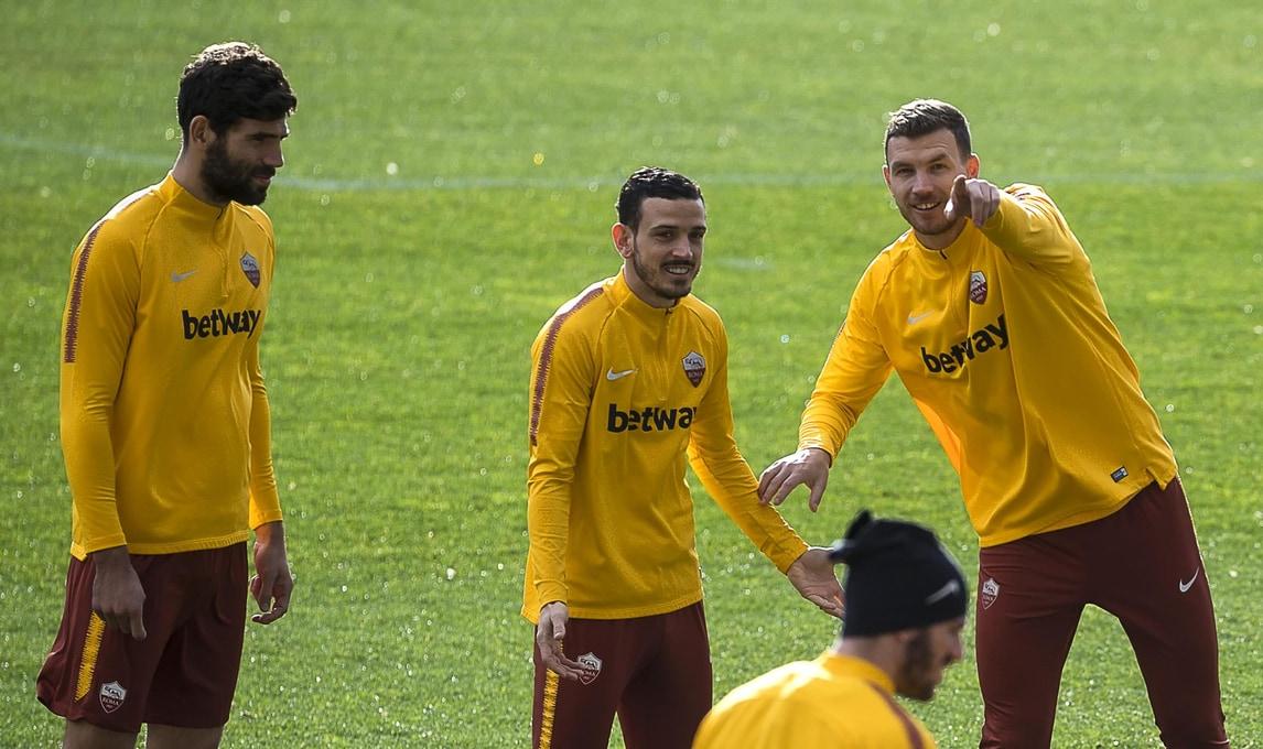 La formazione di Di Francesco si prepara per l'andata degli ottavi contro il Porto