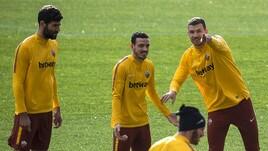 Roma, c'è la Champions: sorrisi ed entusiasmo a Trigoria
