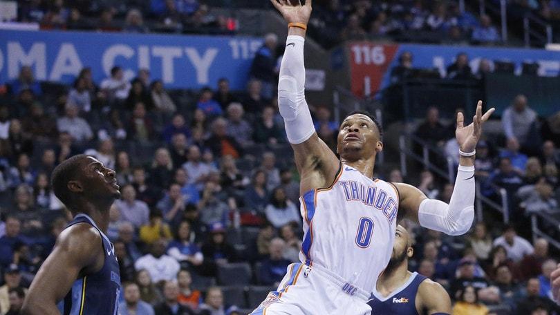 NBA, Westbrook nella storia. Harden trenta volte trenta, Danilo Gallinari ko