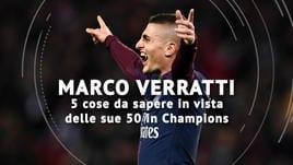 Verratti, 50 volte Champions